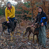 Spending time with some favs today. Dogs, women, woods, what's not to like?... November 10, 2016.