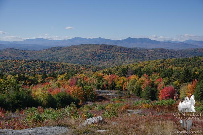 Bluebird Day on Foss Mountain-Sandwich Range in distance... October 10, 2016.