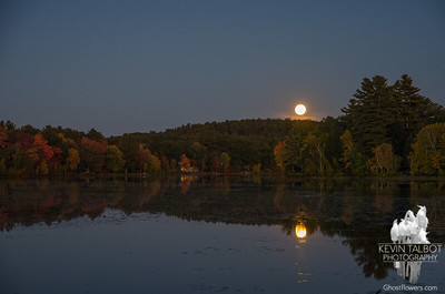 Same pond, different moon... October 15, 2016.