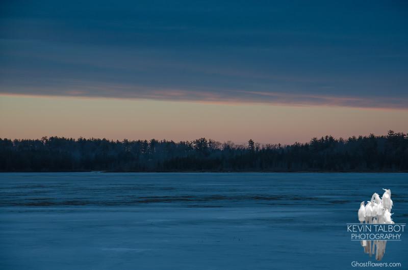 Blue Hour on the Powow... January 28, 2018.