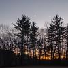 "Sunset and new moon tonight at ""The Pahk""...November 30, 2019."
