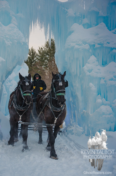 Things to do when it's 10 degrees out- Sleigh Rides at the Ice Castles in North Woodstock, NH... January 22, 2019.