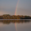 The sun peeked out of the rain clouds just before it sank below the horizon this evening on the Powow- Never thought the end of the rainbow was anywhere else... April 28, 2019.