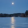 Blue Hour, Full Moon Rise and a Moonpath on the Powow Tonight... February 26, 2021.