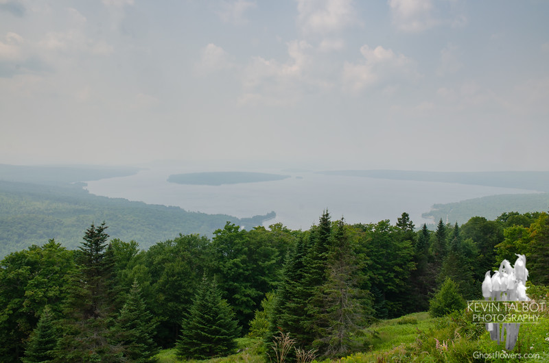 Thick Haze from Western Wildfires Over Mooselookmeguntic Rangeley, Maine- Still One of Our Favorite Places to Visit! July 26, 2021.