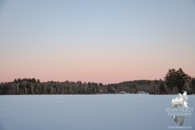 Pastel Eastern Sky at Sunset this Evening Over the Powow... February 21, 2021.