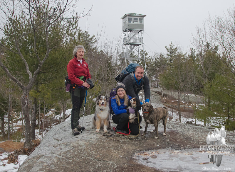 Today's Two-legged & Four-legged Trampers in Pawtuckaway... February 1, 2020.