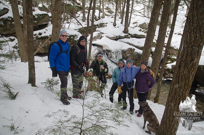 Today's Trampers along the Wonalancet River... February 4, 2020.