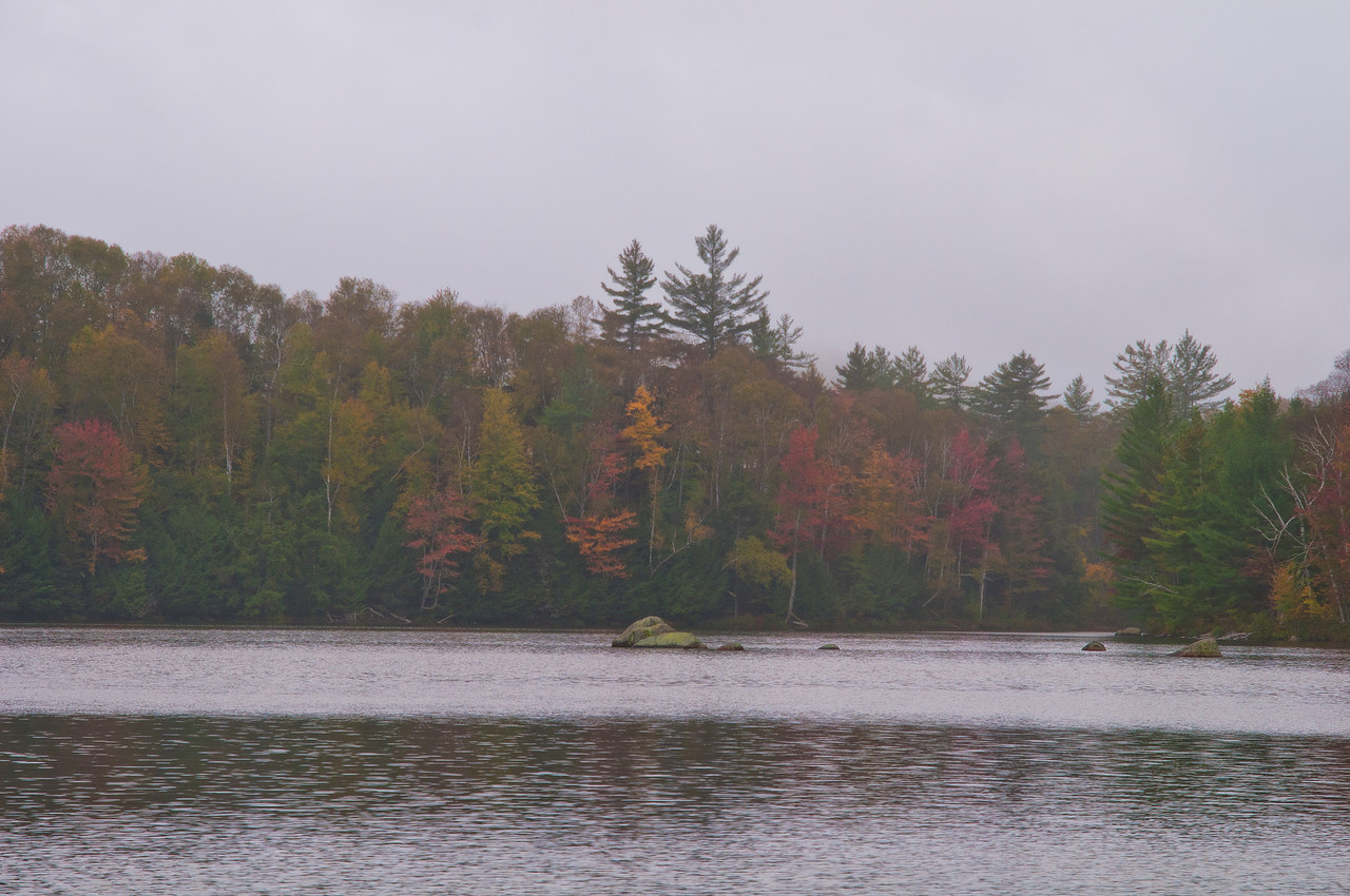 October 4 - Day two of a five day solo canoe trip in the St. Regis Canoe Area in the Adirondacks.  The first half of the trip brought drizzle with wind.