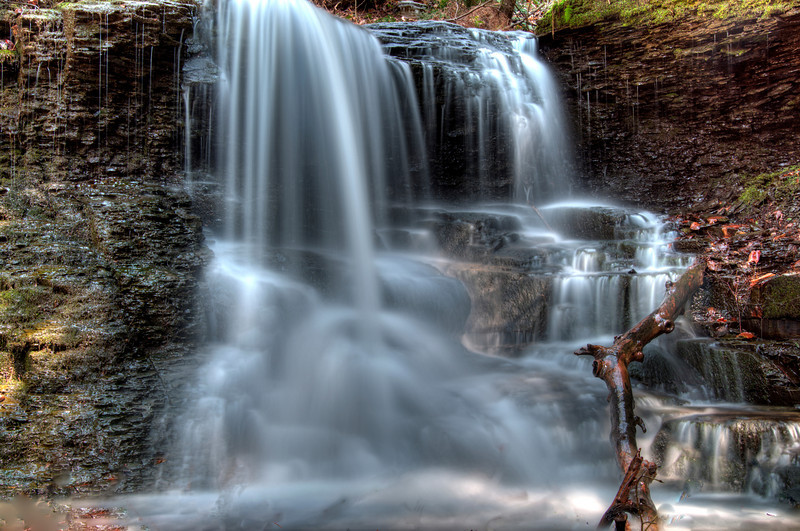 April 26 - Falls outside of Waterville.  Locals sometimes refer to it as Frostbite Falls.