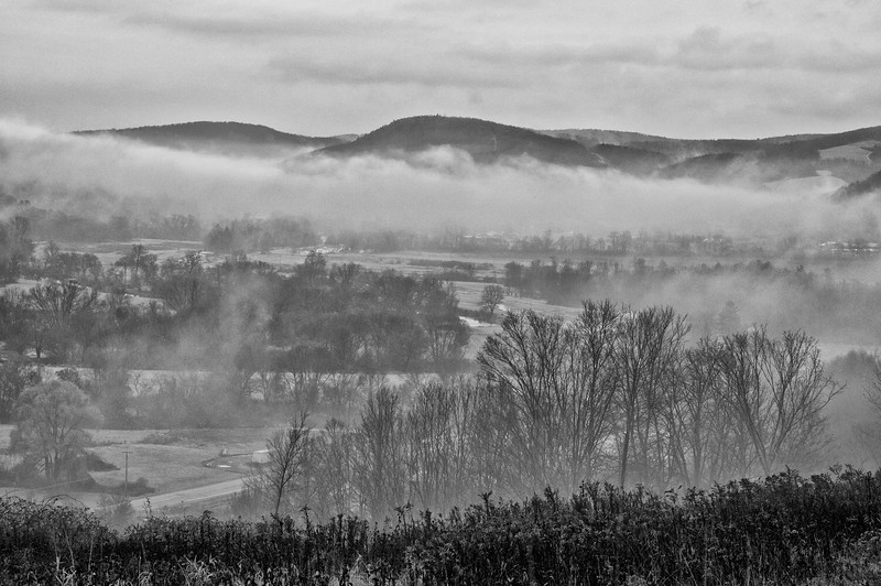 November 16 - The Chenango River Valley looking north from near North Norwich.  Rainy day today.