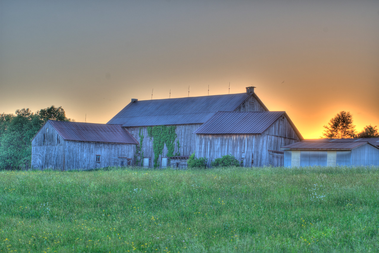 June 2 - Barn around the block from my home.  This is an HDR shot.