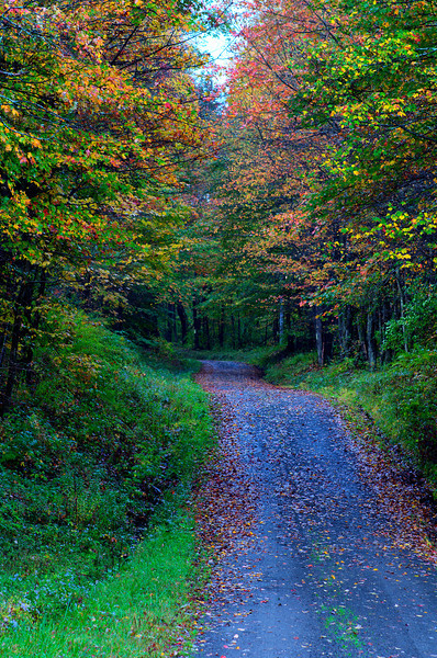 September 28 - Columbus Hill Road.  One of the many seasonal roads in the Town of Columbus.