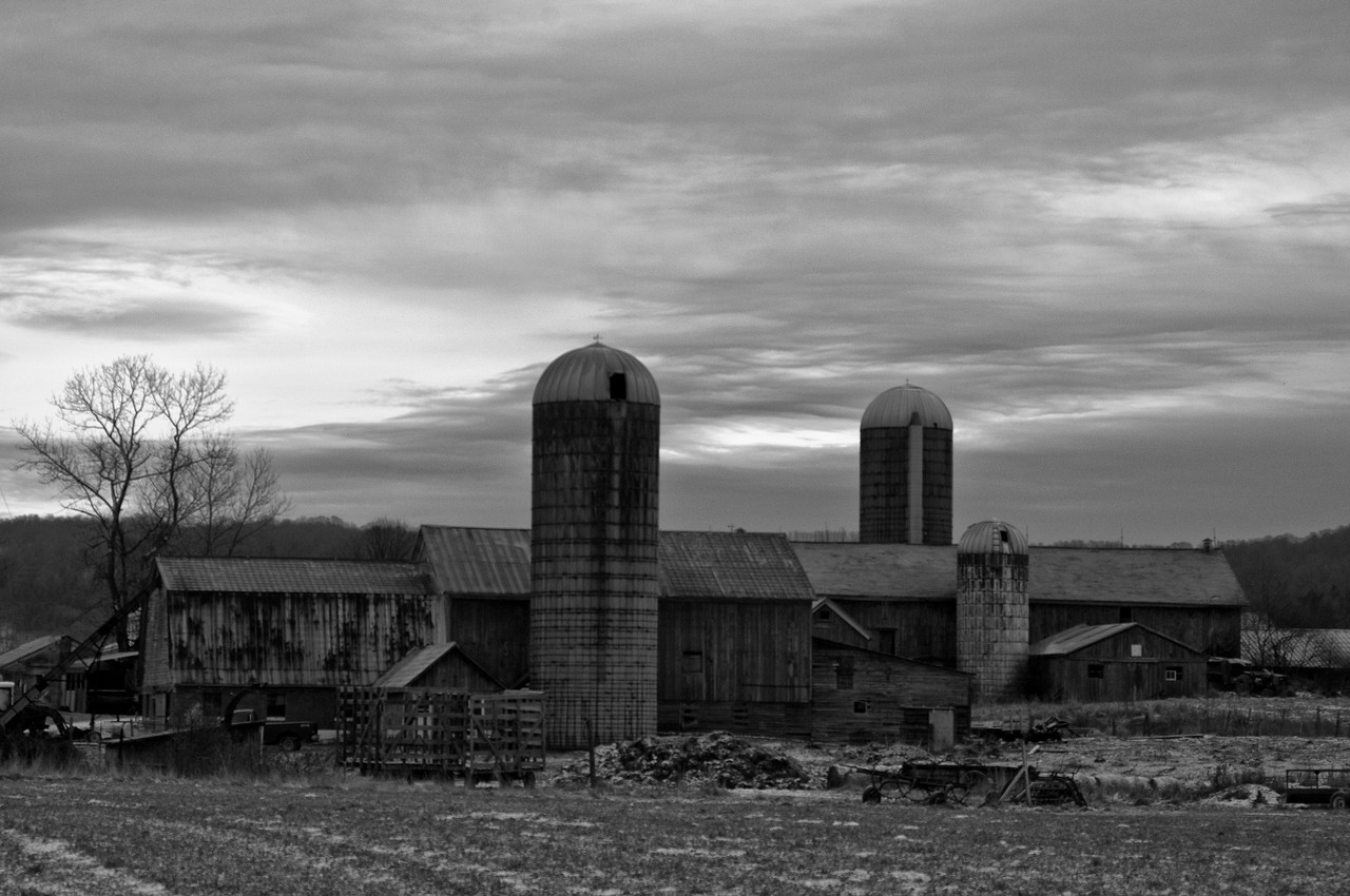 December 27 - Double Barn.  Taken before the rain and sleet started today