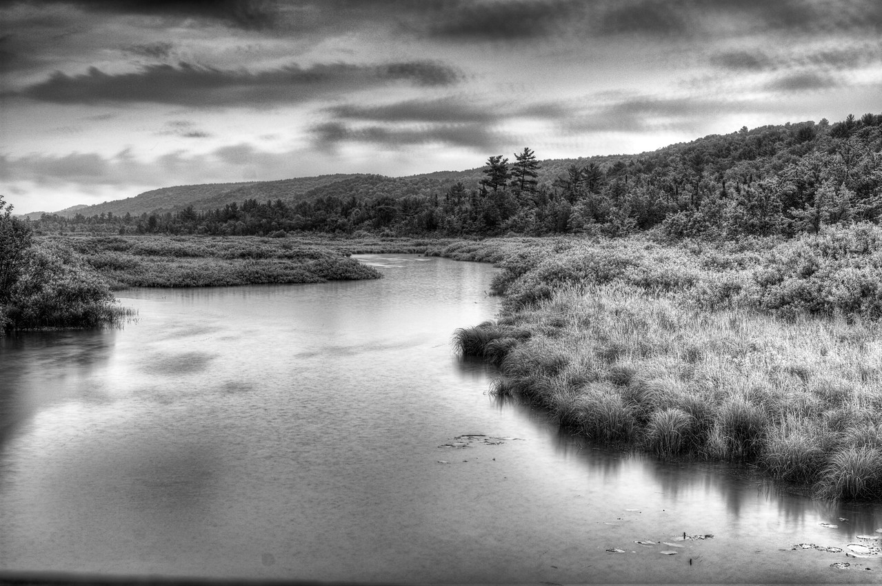 June 23 - Beaver Creek north of Brookfield, NY.  It was tough finding a decent subject to photograph tonight.  It was raining durning this photograph.
