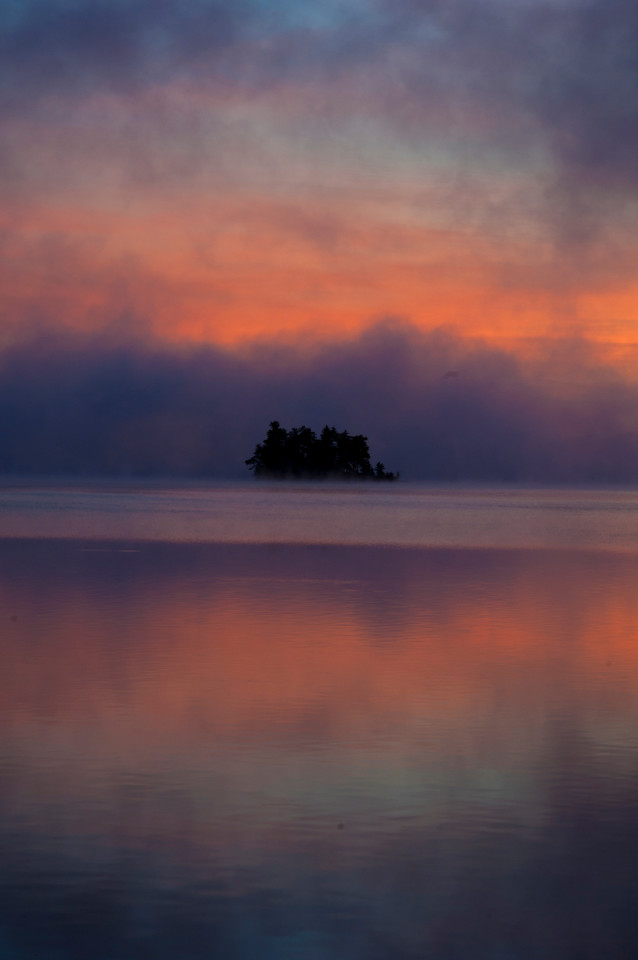 October 7 - Dawn on Upper Saranac Lake