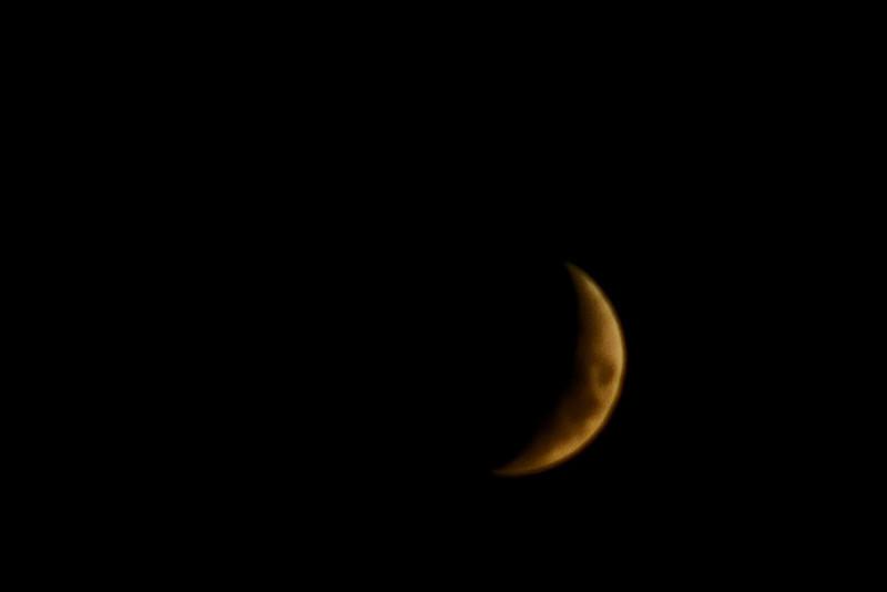 July 5 - Moon shot.  Okay, less tham a full moon, way less.
