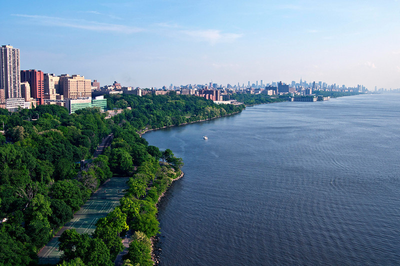 May 29 - View from the George Washington Bridge of Manhatten.