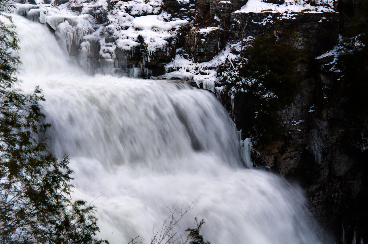 March 26 - Chittenango Falls State Park.  Still not permitted to enter the gorge.  It' too icy, but I look forward to photographing this during the different seasons.