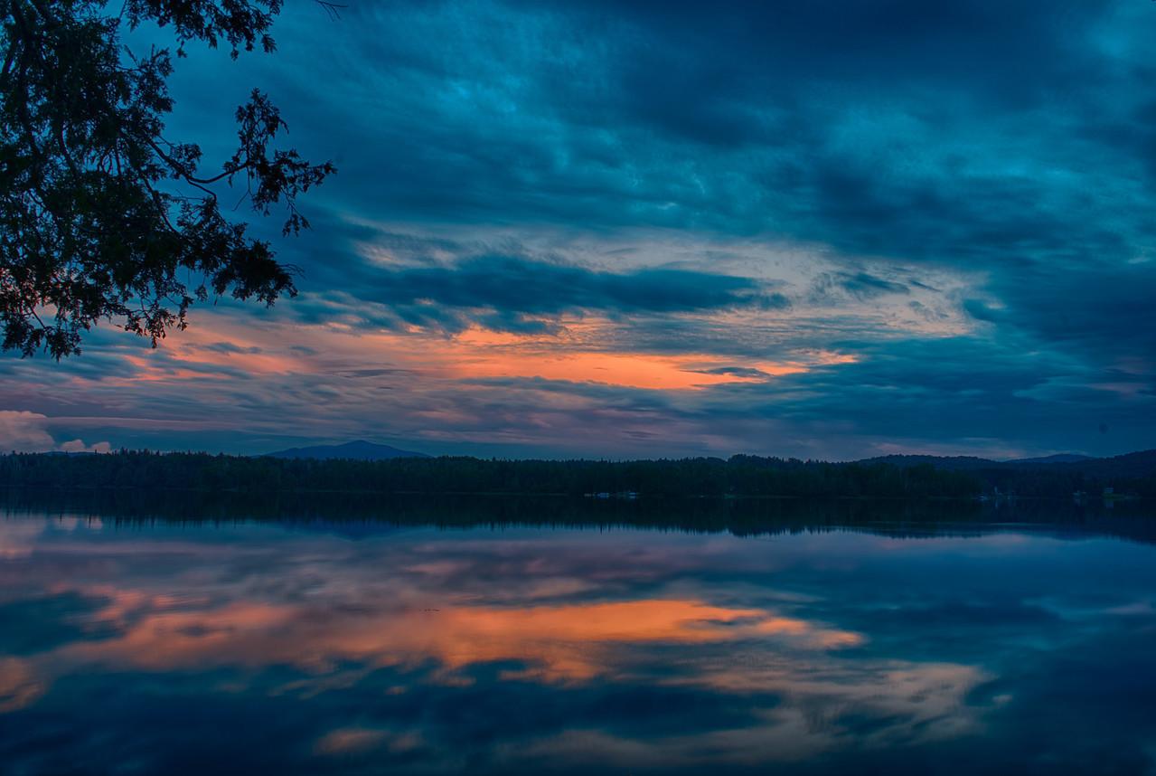 July 7 - Harris Lake in the Adirondacks near Newcomb, NY