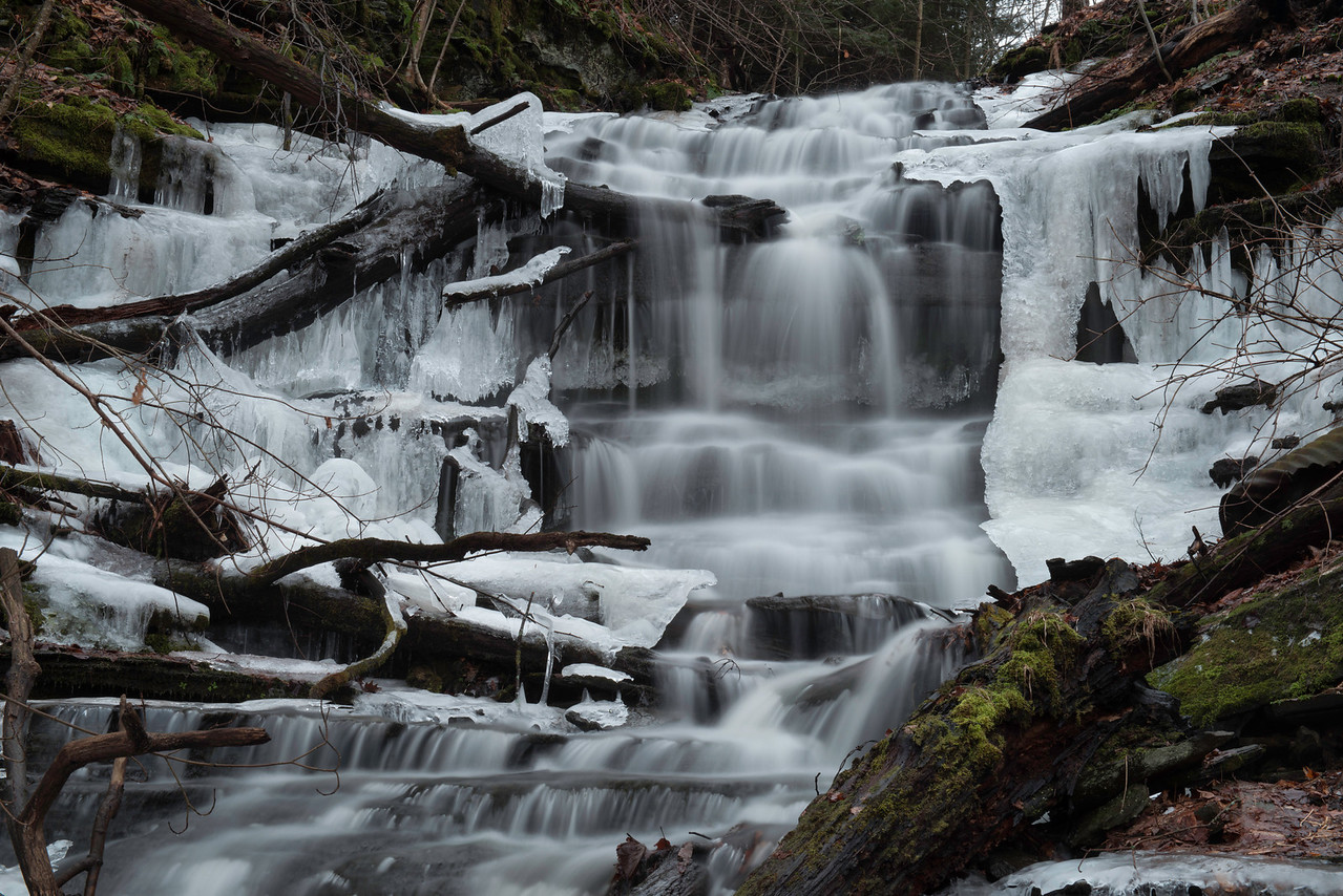 January 30 - First time for me to photograph this falls which is 1 1/2 miles from my home.  It's an interesting trek to get to the base of the falls.