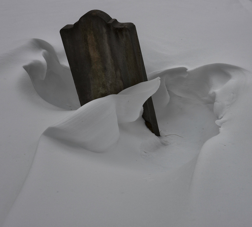 March 25 - Snow Sculpture - Quaker Hill Cemetery in the Brookfield State Lands, NY