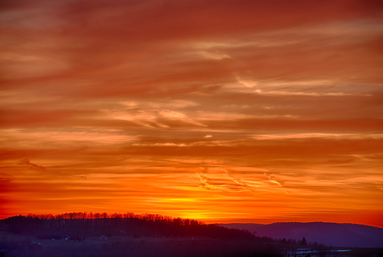 April 4 - Spring was in the air today and the sunset was outstanding!  Sherburne, NY