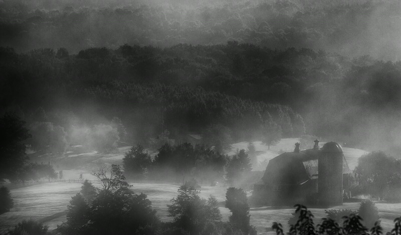 August 29 - Mystical Barn in fog