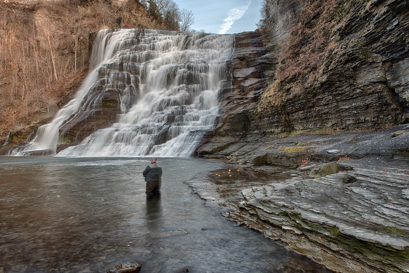 December 12 - Ithaca Falls with Fisherman