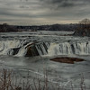 Cohoes Falls near where the Mohawk River flows into the Hudson River