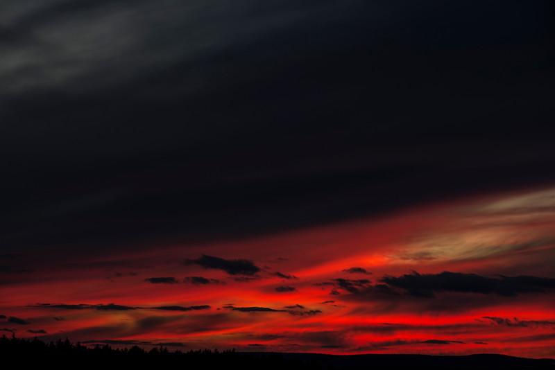 February 1 - Sunset from Dewey Road, Sherburne, NY