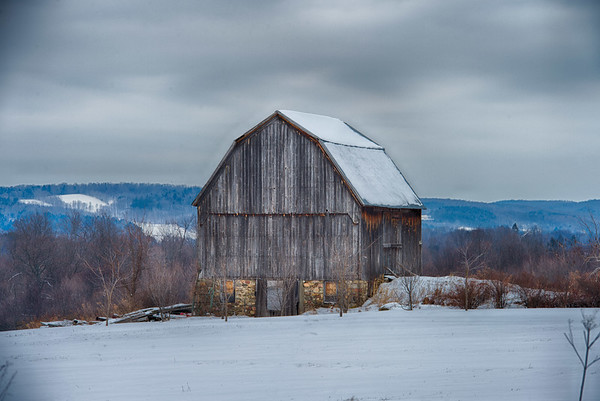 February 11 - Barn near Poolville, NY.