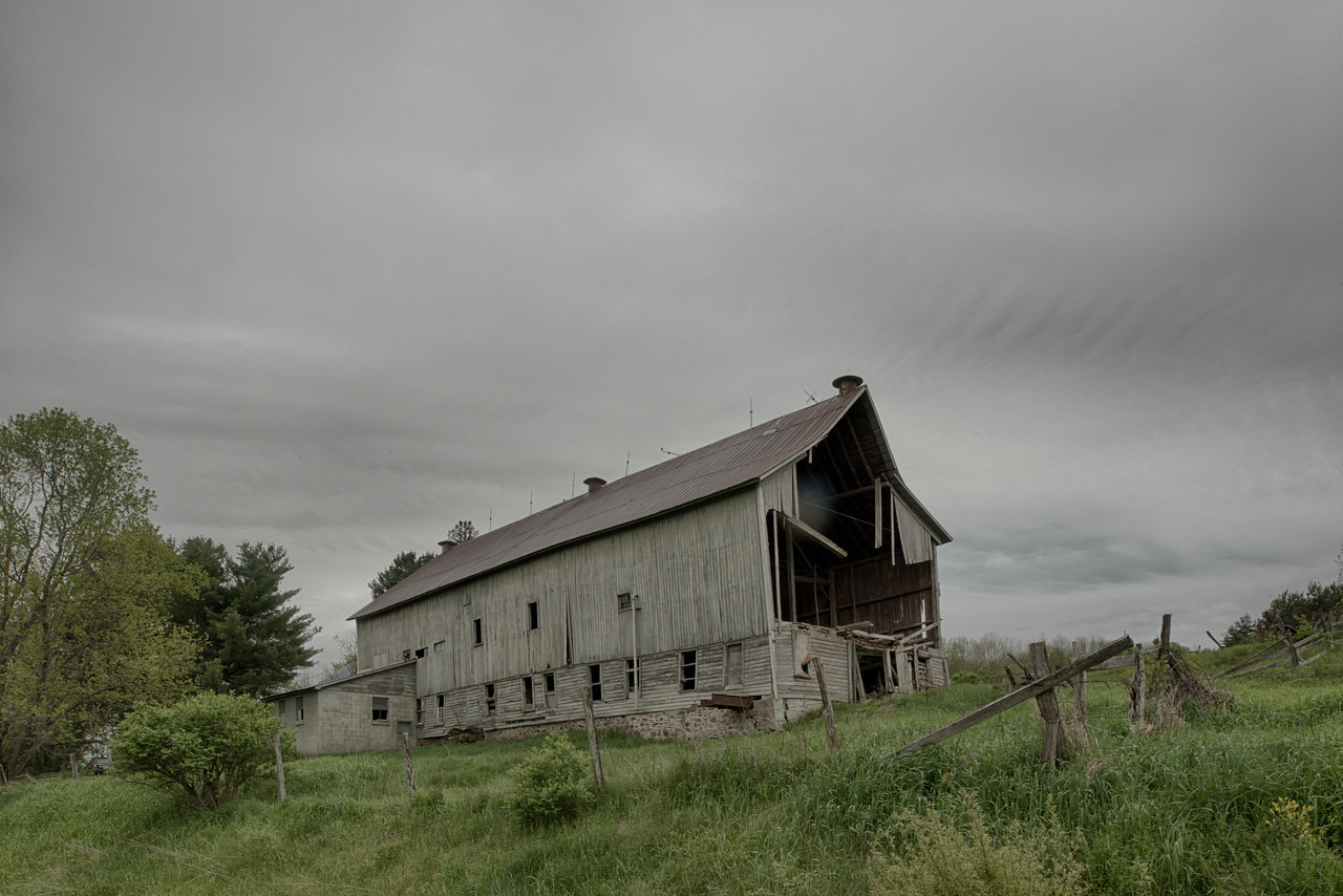 May 21 - Barn slowly falling down, Columbus, NY