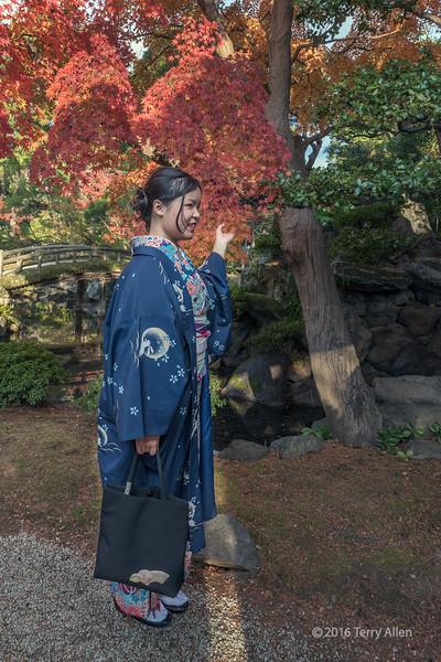 Woman in a kimono