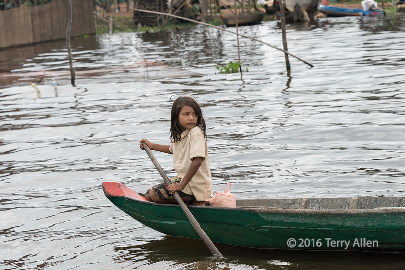 The girl in the green boat