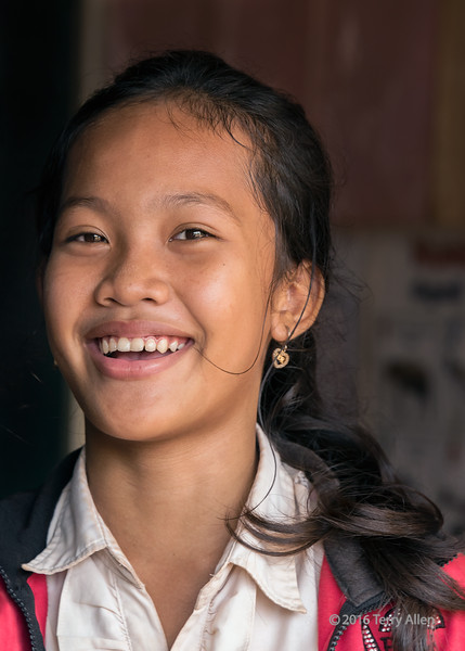 Laughing school girl