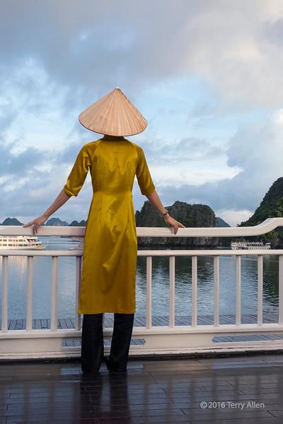 Looking out at Ha Long Bay