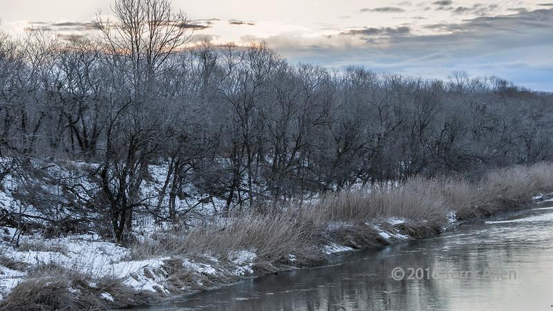 Setsuri River at sunrise
