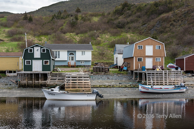Fishing stages and fish shacks