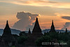 """Stupas at sunset, Bagan, Myanmar<br /> <br /> As a general rule, a stupa is a solid structure that typically cannot be entered. They were constructed to contain sacred Buddhist relics that are hidden from view in containers buried at their core or in the walls. Temples. by contrast have open interiors that may be entered, and in which are displayed images (usually one in smaller temples, four or even eight in larger double storied temples) of Buddha as a focus for worship.<br /> <br /> For an example of a large temple, see Dhammayangyi Temple and read the story of the psychotic King Narathu here <a href=""""http://goo.gl/7RzK2"""">http://goo.gl/7RzK2</a>"""