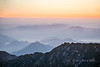Sunrise with distant peaks