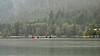 Misty morning with kayakers