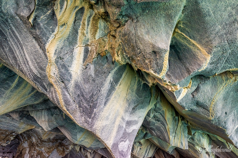 Eroded marble, close-up