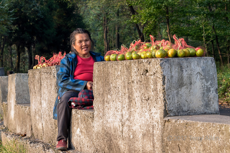 Woman selling fruit