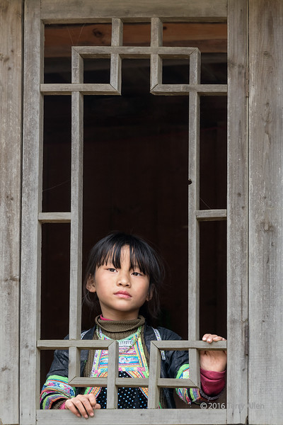"""The girl at the window<br /> <br /> Ethnic Miao girl at Basha Gun Village, Guizhou Province, China<br /> <br /> 19/05/15  <a href=""""http://www.allenfotowild.com"""">http://www.allenfotowild.com</a>"""