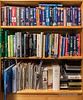 "Still life with travel books (best larger to read the titles)<br /> <br /> I have quite an extensive collection of travel books and travel writing, collected over several decades.  These days, of course, we can find most information on the internet, but when I'm in remote areas, there is often no internet (or sometimes not even electricity), and a good book still comes in handy.  This is just part of a much larger collection of travel writing.  A lot of photos from many of these destinations still reside in my slide collection, probably never to see the light of day.<br /> <br /> 15/02/15  <a href=""http://www.allenfotowild.com"">http://www.allenfotowild.com</a>"