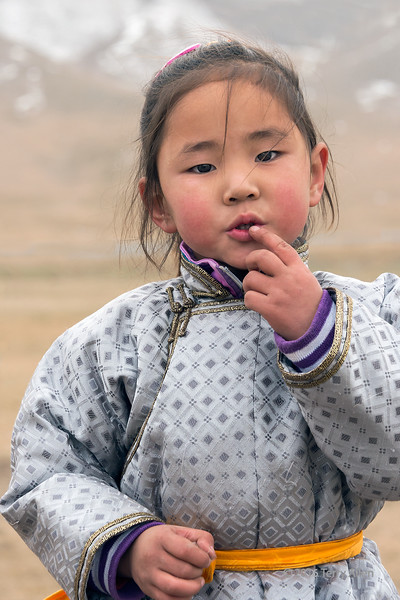 """Portrait of a child<br /> <br /> This child was the daughter of goat herders who were grazing their flock on the steppes. She was a very shy little girl and it took a little time to gain her confidence enough to get a photo of her.<br /> <br /> Other photos, including the endangered Mongolian wild ass can be seen here: <a href=""""http://goo.gl/WAHxwH"""">http://goo.gl/WAHxwH</a><br /> <br /> 06/02/15  <a href=""""http://www.allenfotowild.com"""">http://www.allenfotowild.com</a>"""