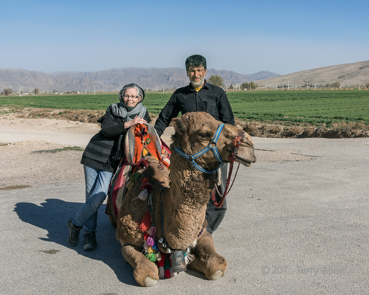 Self portrait with camel