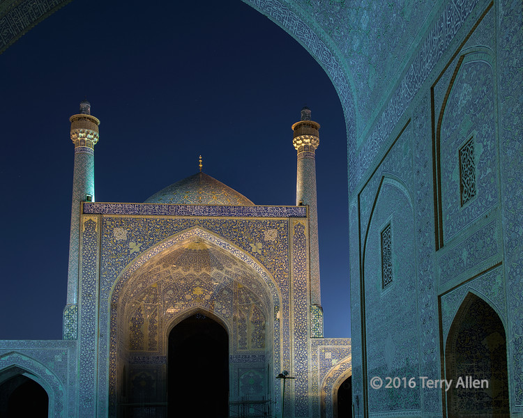 Iman Mosque at night
