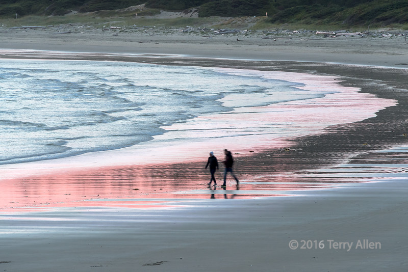 """Beach walk at sunset, Long Beach, Tofino, British Columbia<br /> <br /> The figures were deliberately blurred to suggest motion.<br /> <br /> 30/09/15  <a href=""""http://www.allenfotowild.com"""">http://www.allenfotowild.com</a>"""